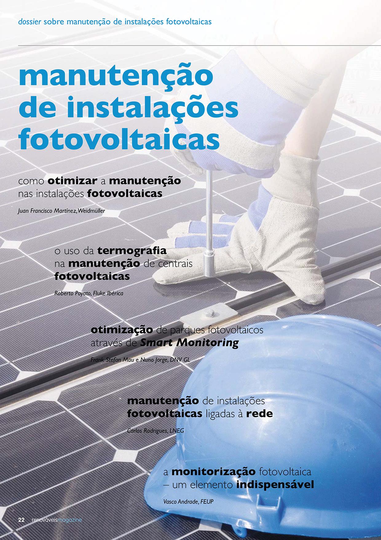 Dossier sobre Manutenção de instalações fotovoltaicas