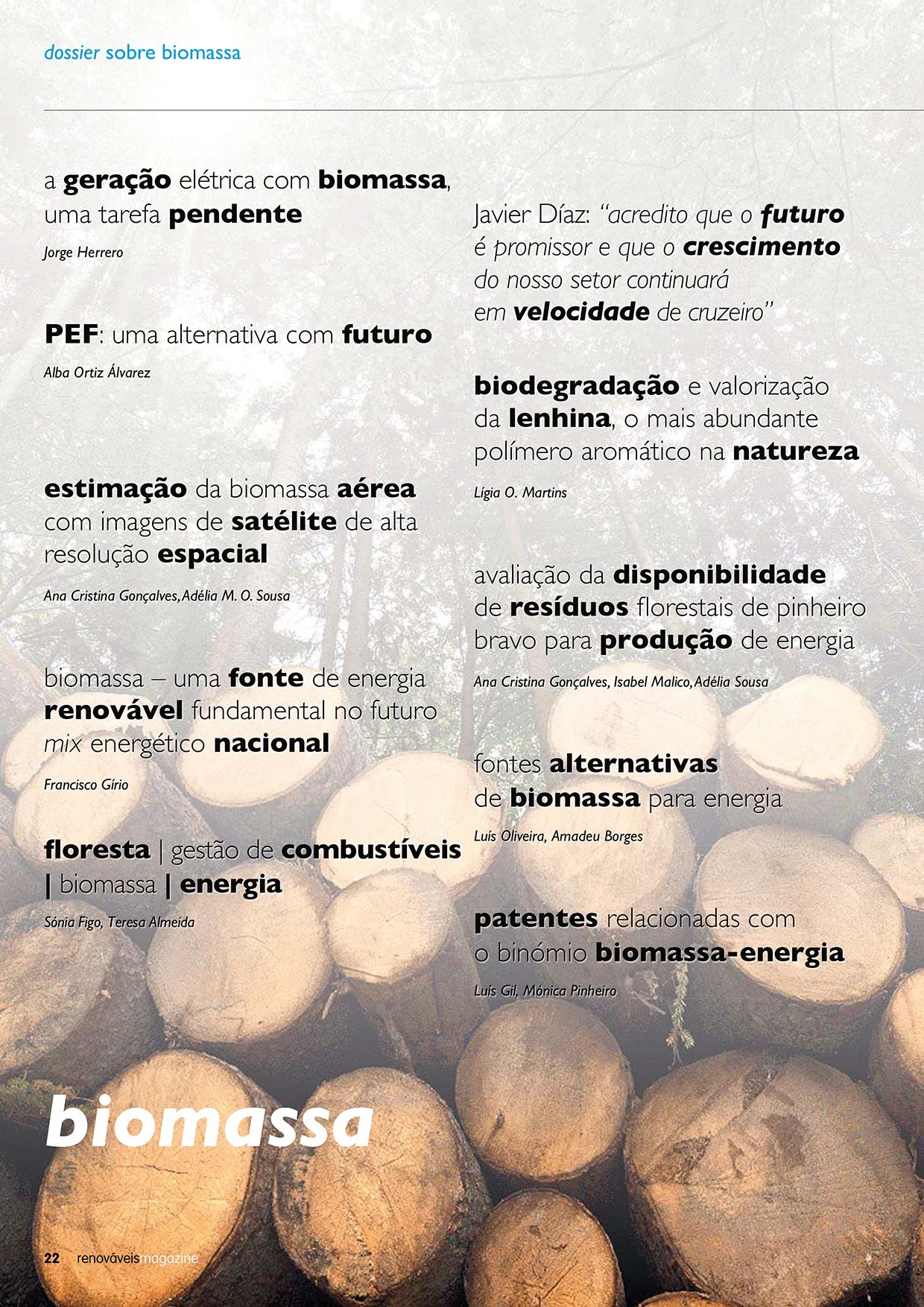 Dossier sobre biomassa - edição 33