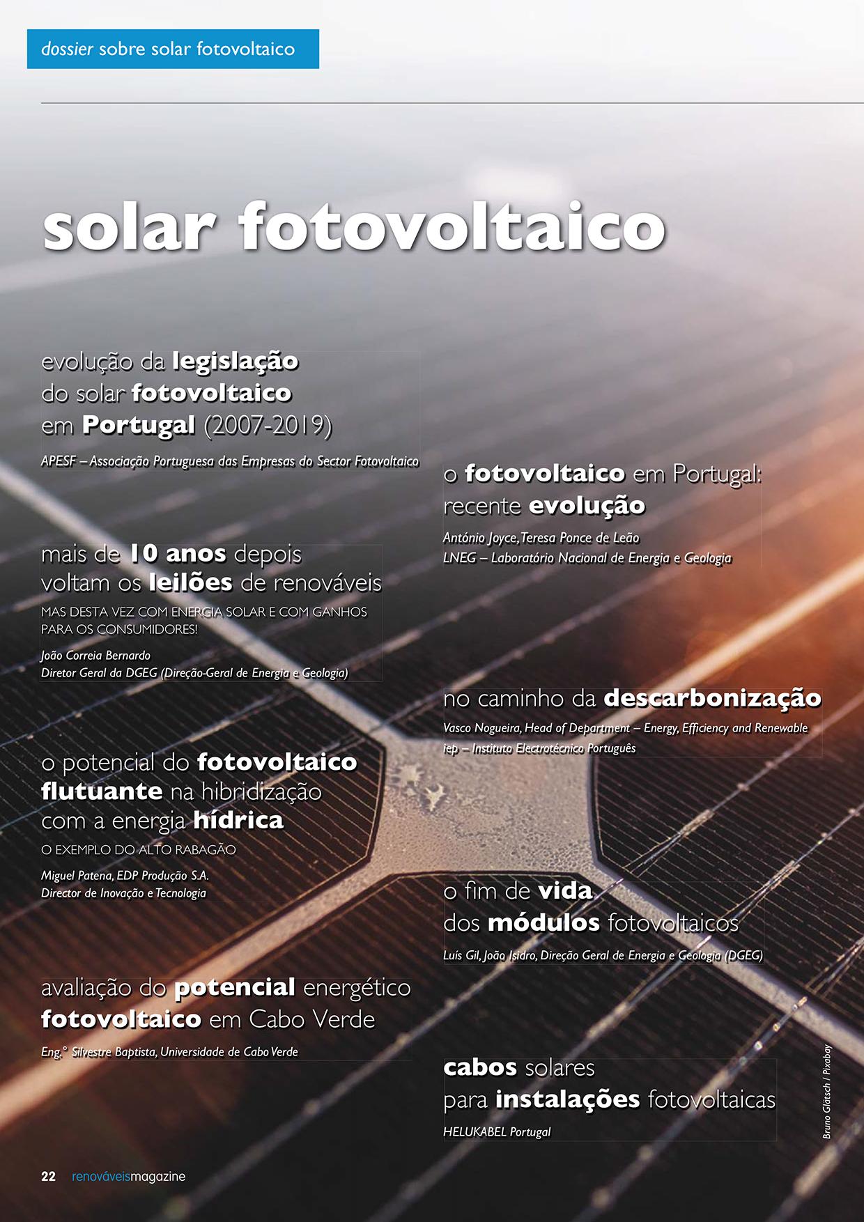 Dossier sobre solar fotovoltaico
