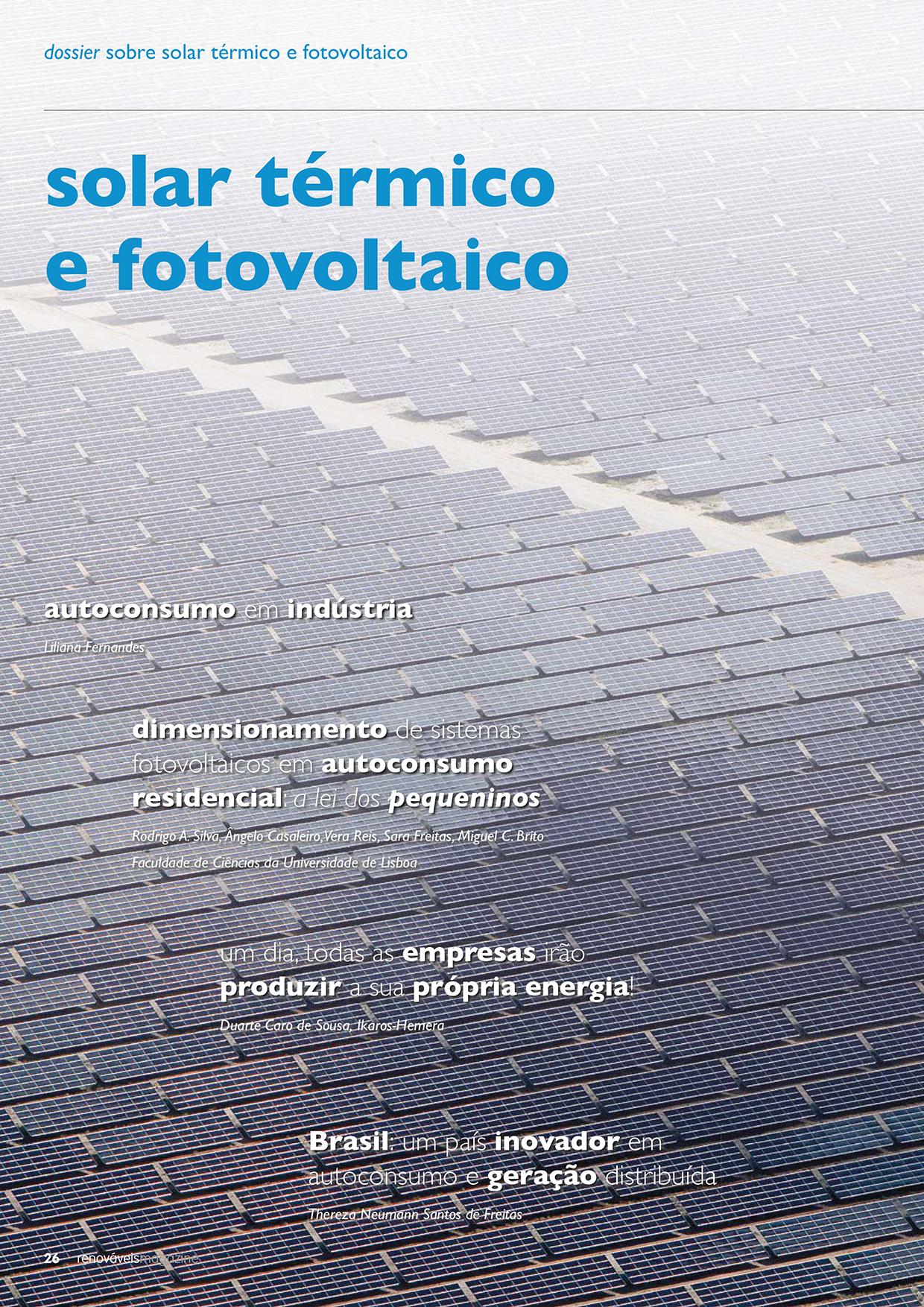 Dossier sobre Solar térmico e fotovoltaico