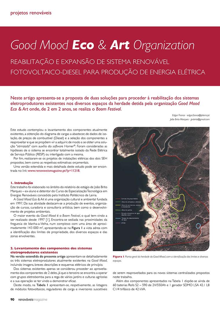 Artigo sobre Good Mood Eco & Art Organization Reabilitação e expansão de sistema renovável
