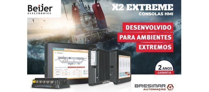Bresimar Automação: consolas X2 extreme da Beijer – desenvolvidas para ambientes extremos