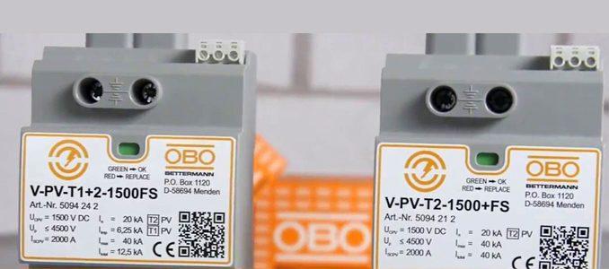 OBO Bettermann: novos descarregadores de sobretensões para aplicações fotovoltaicas