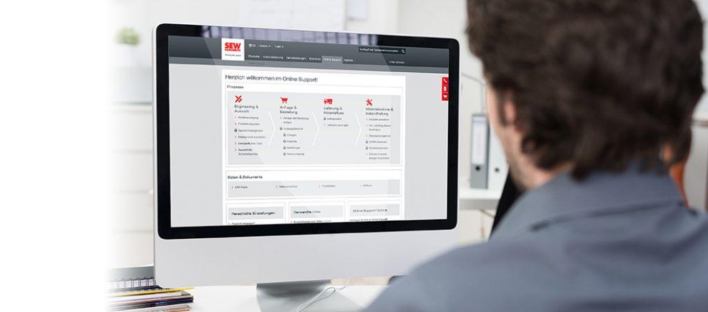 SEW-EURODRIVE: Online Support – apoio otimizado ao mais alto nível