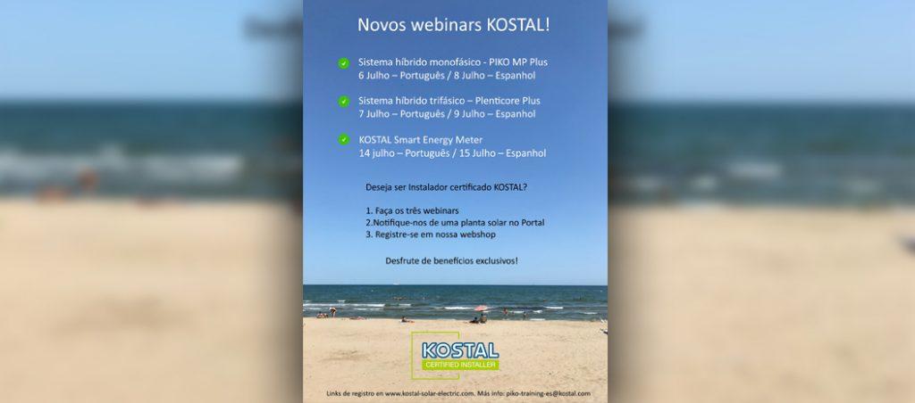 KOSTAL lança webinars gratuitos e possibilidade de se tornar tornar Instalador Certificado KOSTAL