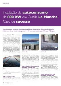 Artigo sobre instalação de autoconsumo de 800 kW em Castilla La Mancha