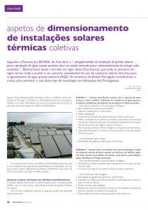 Artigo sobre Aspetos de dimensionamento de instalações solares térmicas coletivas