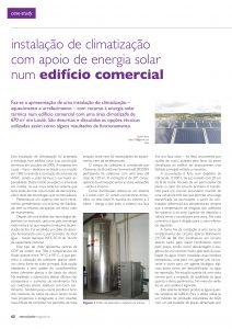 Artigo sobre Instalação de climatização com apoio de energia solar num edifício comercial