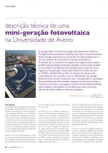 Artigo sobre uma mini-geração fotovoltaica na Universidade de Aveiro