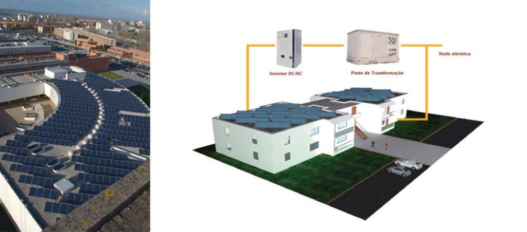 Descrição técnica de uma mini-geração fotovoltaica na Universidade de Aveiro