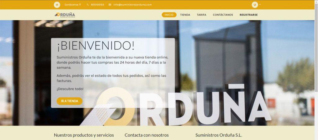 Suministros Orduña abre loja online para Portugal