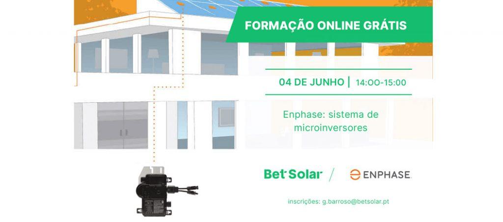 Formação gratuita Bet Solar: Enphase Energy, SMA e BYD