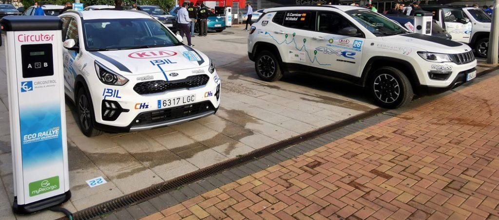 Circutor forneceu pontos de recarga para o Eco Rally 2021