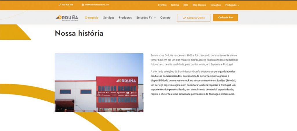 Suministros Orduña lança website otimizado para profissionais do setor