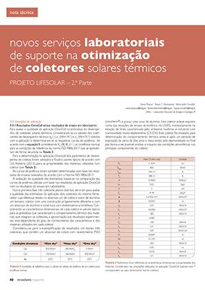 Artigo sobre novos serviços laboratoriais