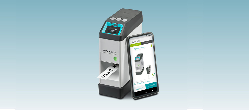 Impressora de transferência térmica móvel para criar marcações diretamente no local