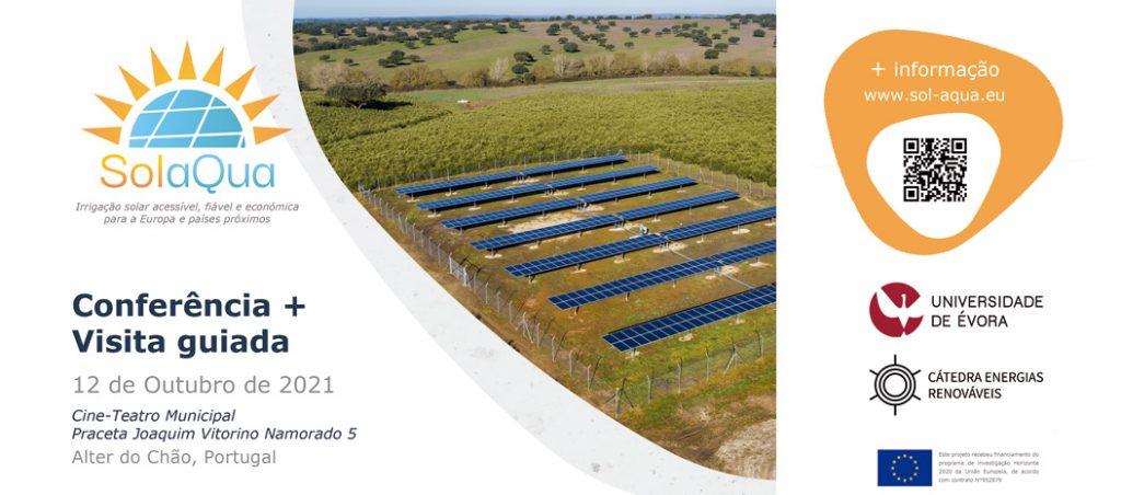 UÉ organiza conferência e visita guiada a sistema de irrigação fotovoltaica de alta potência