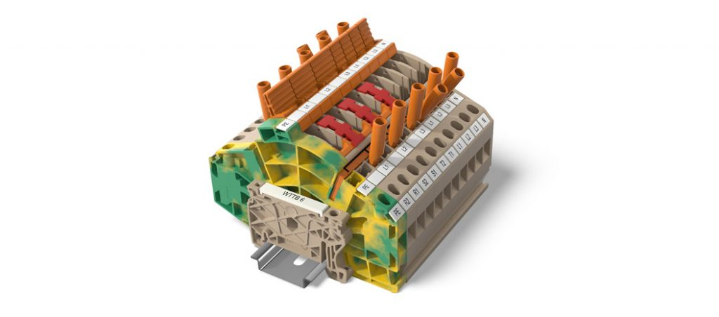 Réguas de bornes Klippon® Connect da Weidmüller com ligação PUSH IN-Power